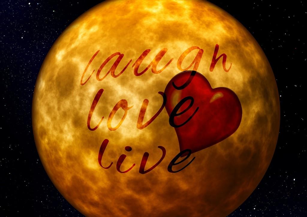 Teksen: Laugh love live